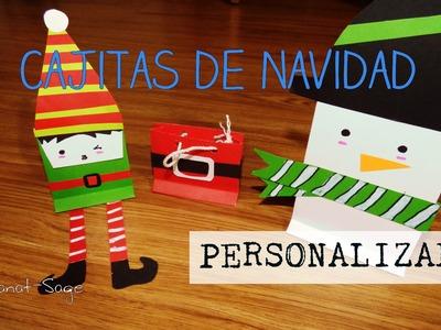 Cajitas de Navidad PERSONALIZADAS, FACIL [DIY]