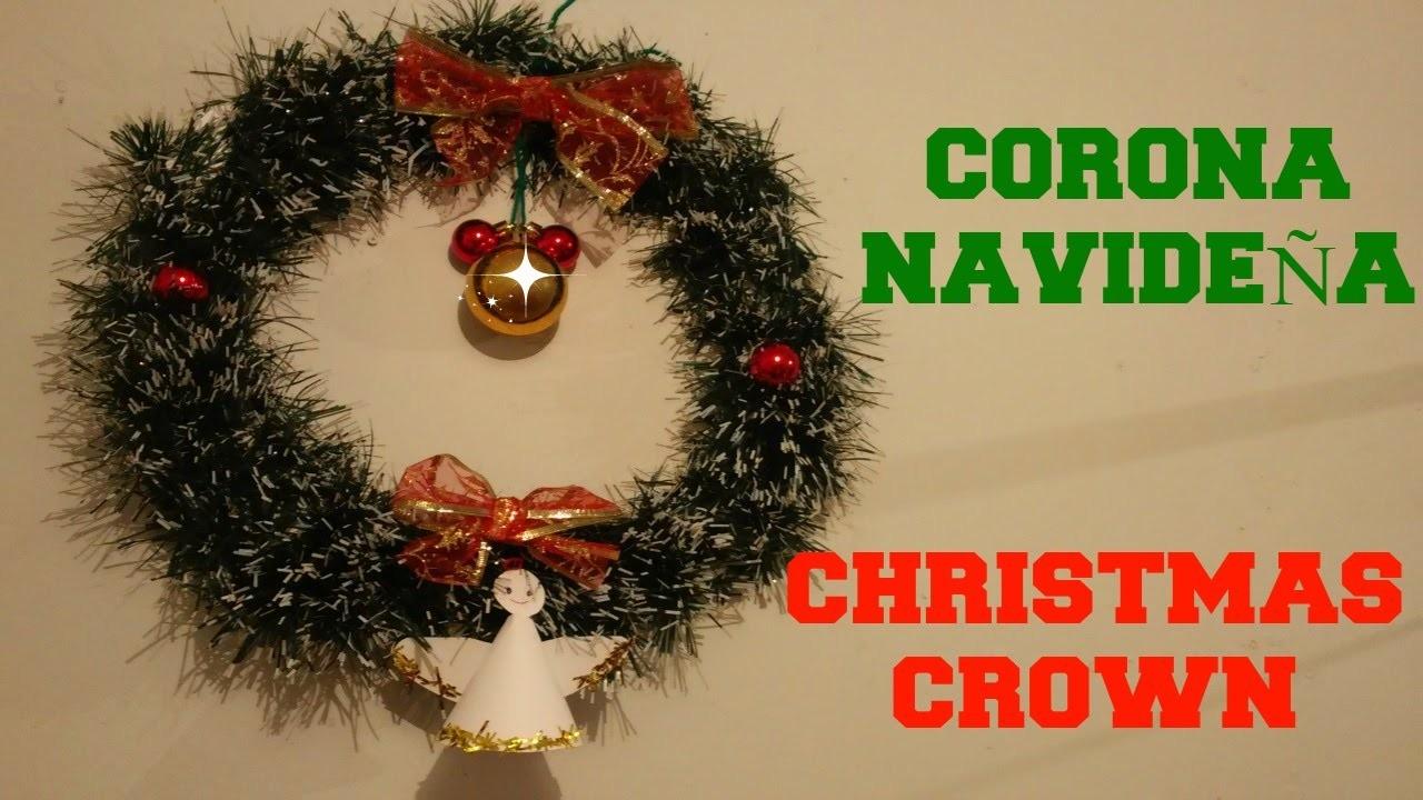 CORONA NAVIDEÑA ECONÓMICA (DIY - CHRISTMAS CROWN)