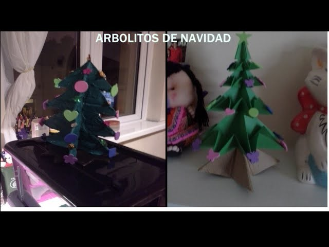 DIY ARBOLITOS DE NAVIDAD | MANUALIDADES PARA NAVIDAD | CHRISTMAS TREE BY CATYTIPS