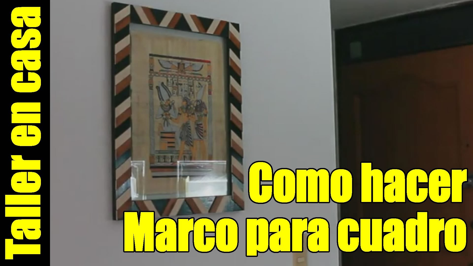 Ideas para decorar - DIY Marco o Cuadro para papiro