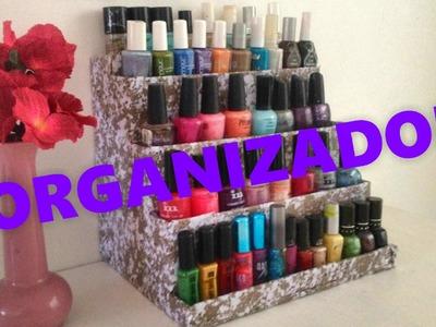 Organizador de esmaltes DIY  (recicla carton)