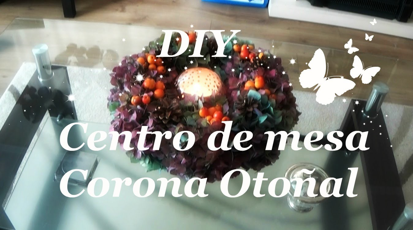 DIY Centro de mesa Corona Otoñal. Invierno