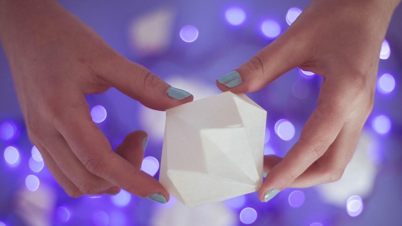 DIY: Cómo hacer esferas de papel navideñas. Manualidades Navideñas - Craftybox