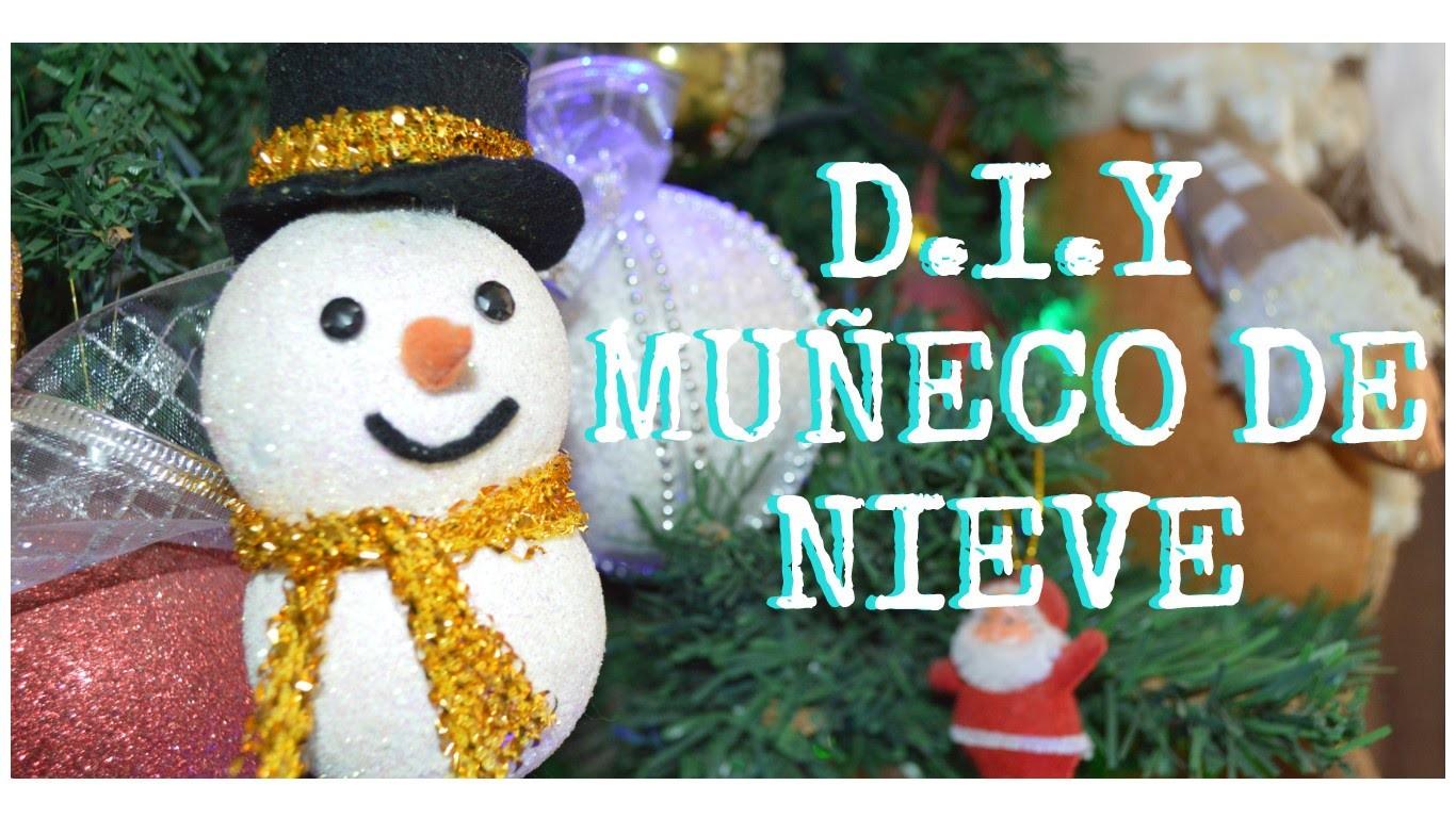 Diy Muñeco de nieve. Manualidades para navidad