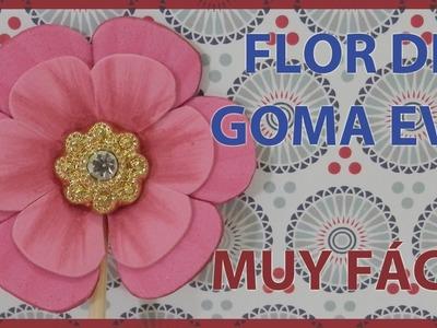 FLORES DOBLES DE GOMA EVA O FOAMY. TUTORIAL DE MANUALIDADES MUY FÁCIL.