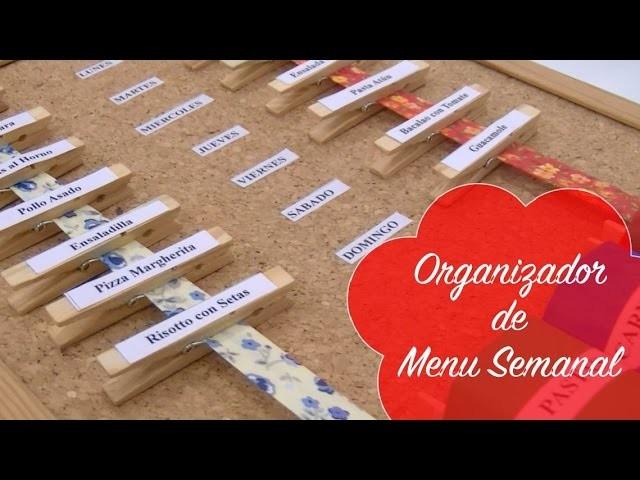 Manualidades - Organizador para Menu Semanal