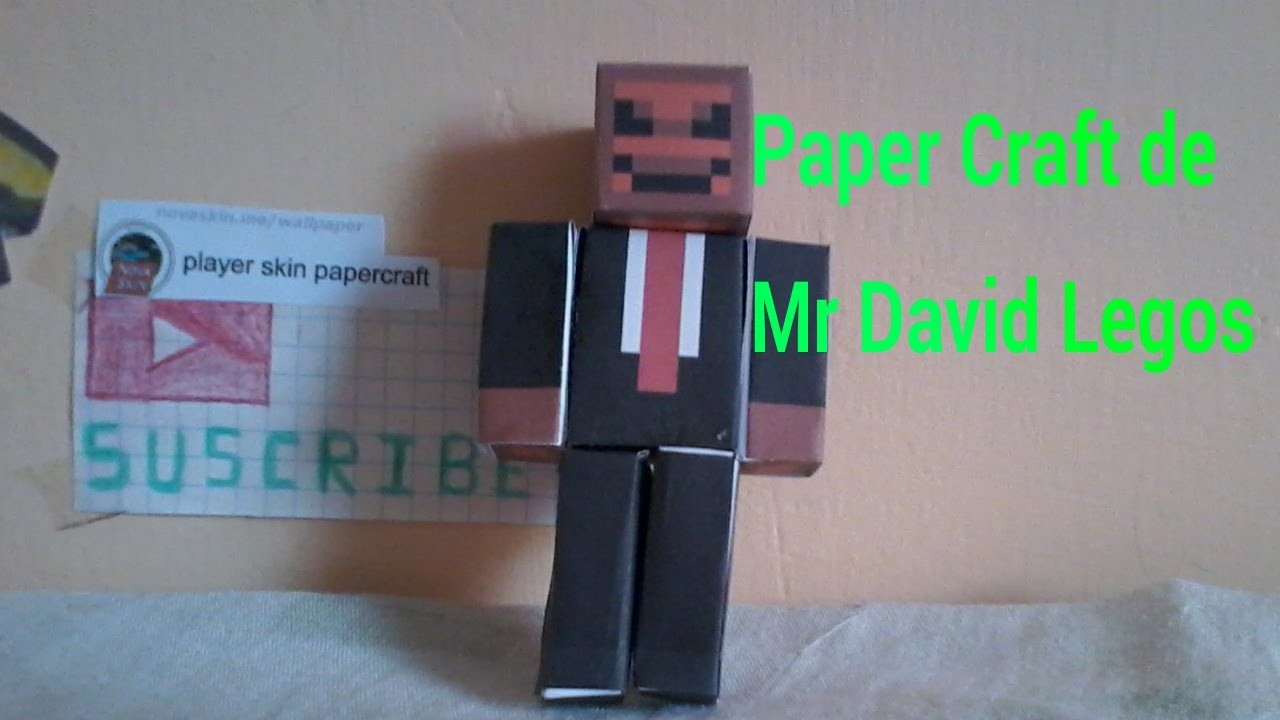 Paper Craft de skin de Mr David Legos ¿quieres uno?