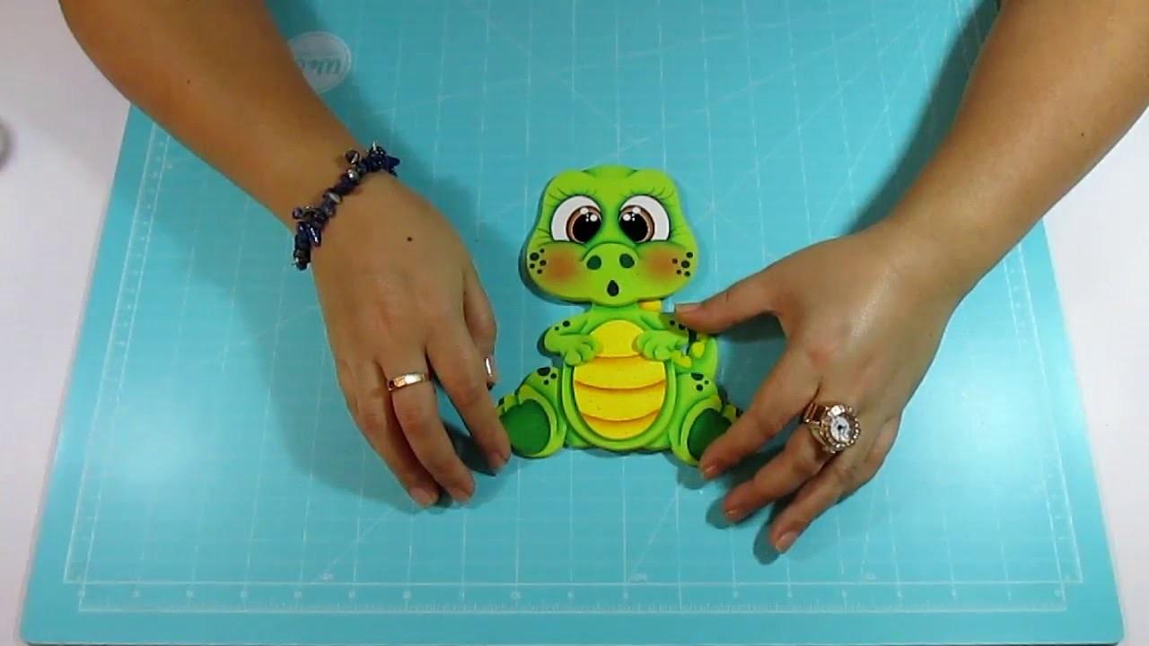 DIY Dino Bebe en Fomi, Goma Eva, Microporoso, Easy Crafts