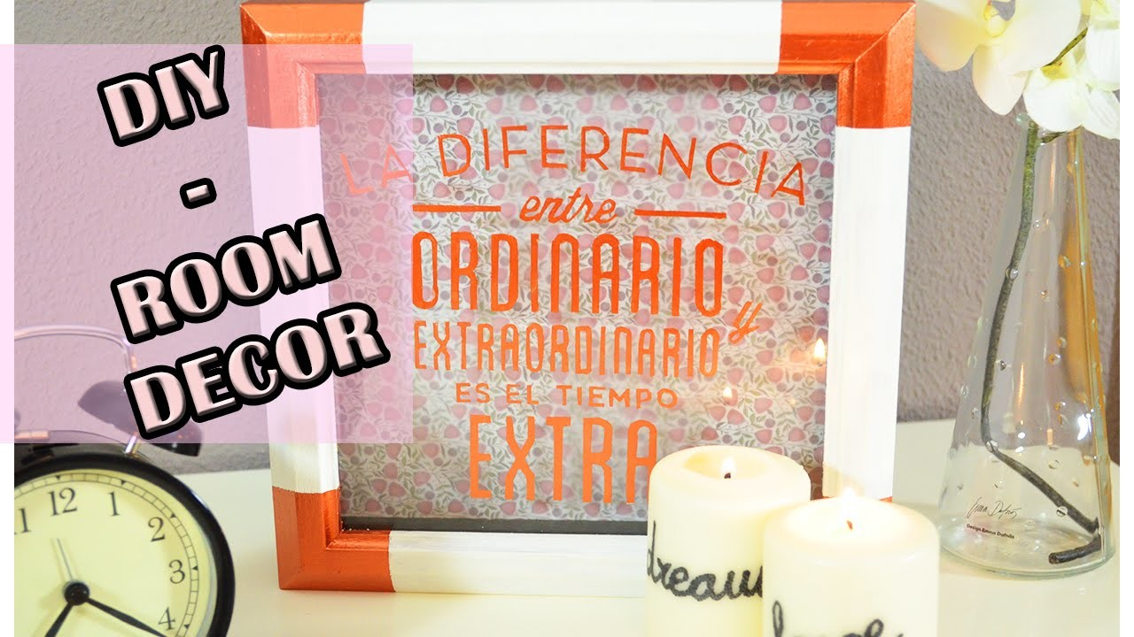 DIY - Room decor - Cuadro con letras 3D