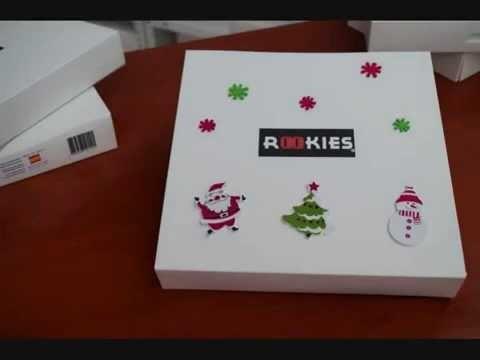 DIY chanclas rookies: personalizar caja de Papá Noel