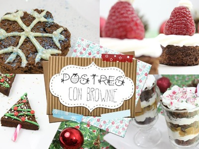POSTRES NAVIDEÑOS CON BROWNIE ❄ | DIY | Angicupcakesblog