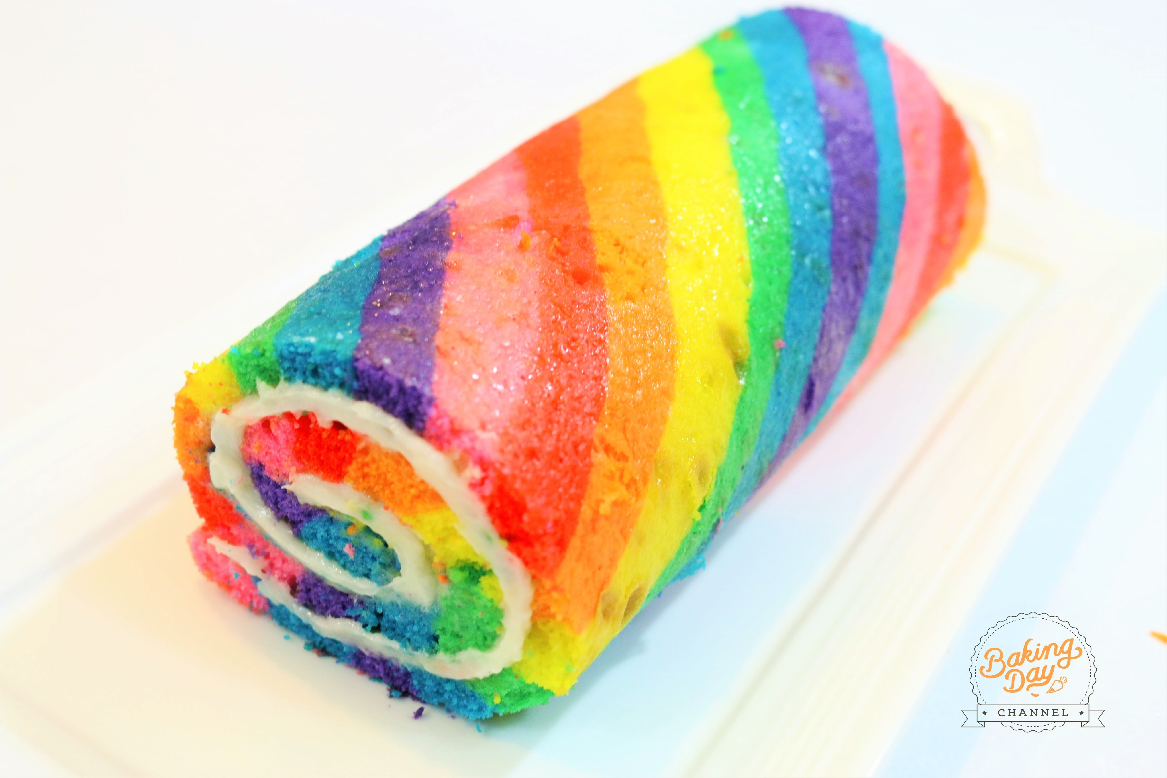 RAINBOW CAKE ROLL - BAKING DAY