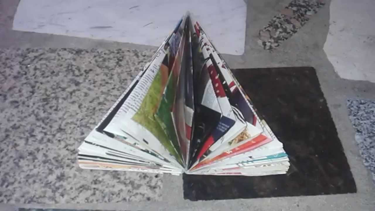 ARBOL de NAVIDAD reciclando una revista. Christmas Crafts : Christmas tree recycling a magazine.