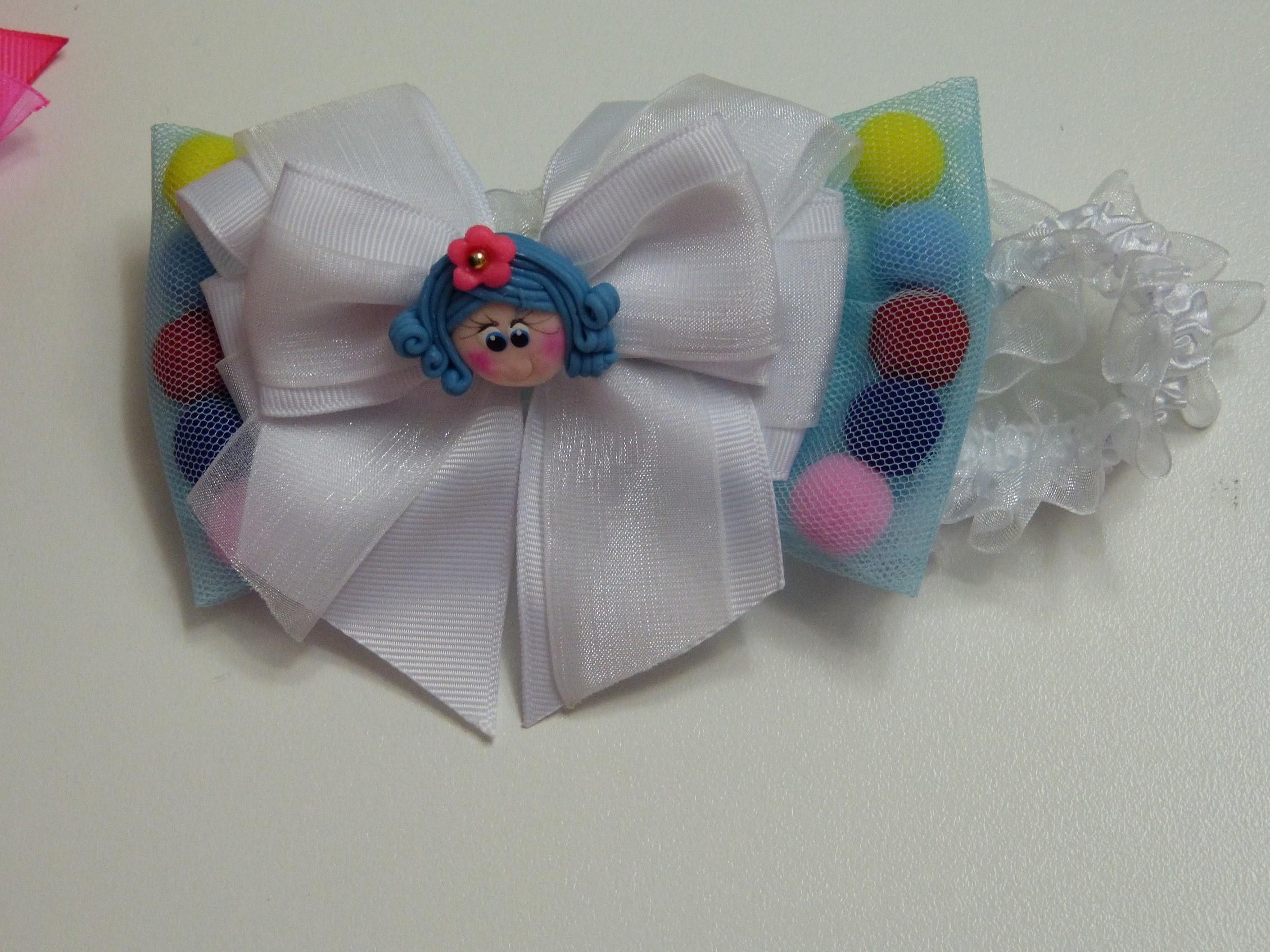 Diy moños de tul para niña, como hacer moños dobles fáciles, hair tul bow