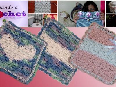 Agarraderas Tejidas en Crochet