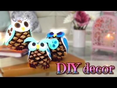 DIY decor - como hacer buhos con piñas - Isa ❤️