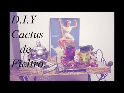 D.I.Y Cactus de fieltro.D.I.Y Felt Cactus and succulent.