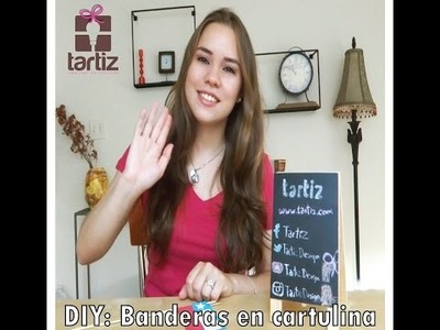 DIY: Banderas en cartulina - Copa América 2015 |  Tartiz