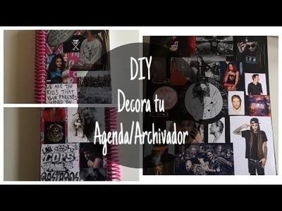 DIY DECORA TU AGENDA.ARCHIVADOR | Baez