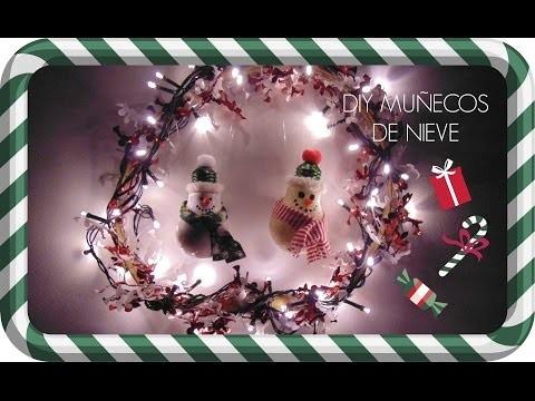 DIY decoración navideña .  muñecos de nieve