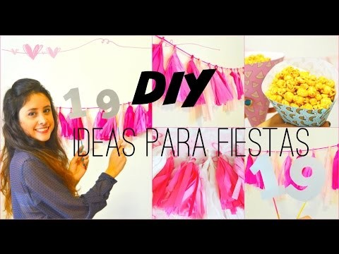 DIY: Decoración para Fiestas - Party Ideas | El Baúl de Carmencita