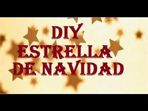 DIY  ESTRELLA DE NAVIDAD
