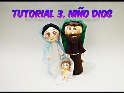 DIY Manualidades Navideñas. Niño Dios Tutorial Cold porcelain