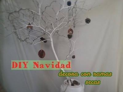 DIY Navidad - Árbol de Navidad con ramas