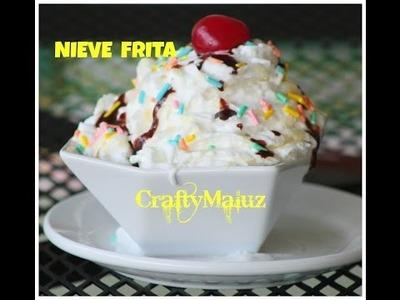 DIY : Nieve Frita. Helado Frito. Diy: Fried Icecream - Summer Dessert