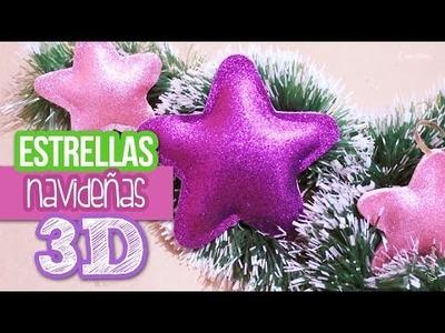 Estrellas Navideñas 3D -Adornos Navideños DIY -Valcrafting