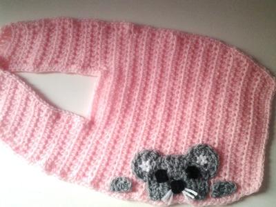 Babero ratoncito a crochet #tutorial #muy facil