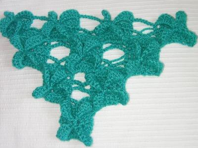 Chal crochet tutorial punto orquideas