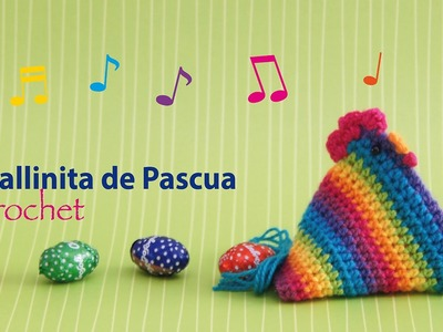 Gallina de Pascua Arcoíris tejida a crochet (en diagramas!) Stop motion crochet :)
