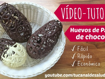 Huevos de Pascua de chocolate diy