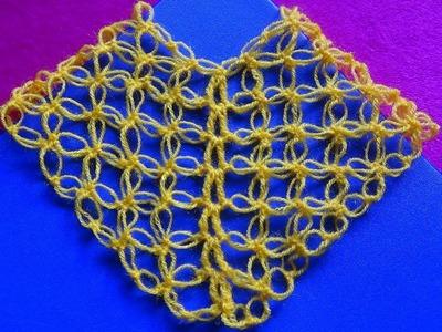 Poncho a Crochet # 1: punto espuma de mar o punto salomon
