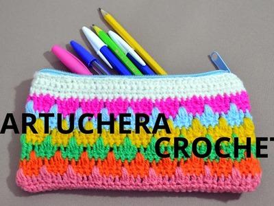 Cartuchera o Estuche en tejido crochet tutorial paso a paso.