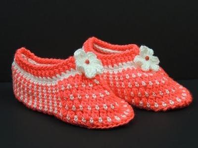 Crochet: Pantuflas (Talla # 7)