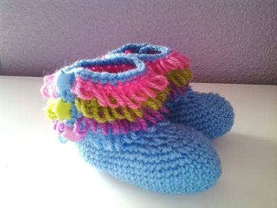 Peucos Botitas de bebe a crochet #tutorial #DIY #muy fácil #paso a paso