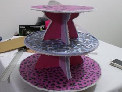 Tutorial: como hacer porta cupcakes de cartón reciclado facil DIY