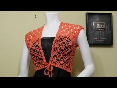 Bolero Mandarina Fácil Crochet