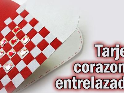 COMO HACER ESTA TARJETA DE CORAZONES ENTRELAZADOS DIY