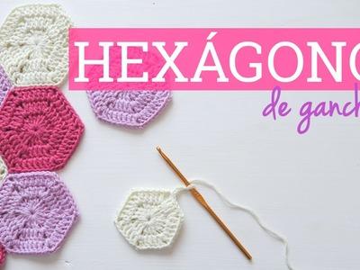 Cómo hacer un hexágono de ganchillo | Crochet hexagon