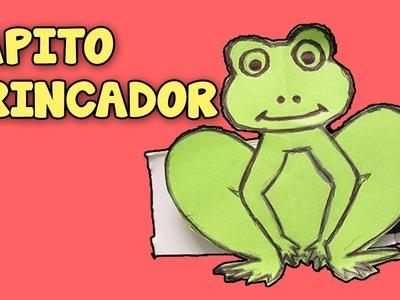 Como Hacer Una Rana De Papel Que Salta│Juguetes Caseros│How to Make a Paper Frog