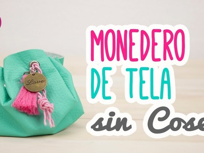 Monedero de Tela Sin Coser | Tutorial Super Fácil Paso a Paso | DIY - Catwalk