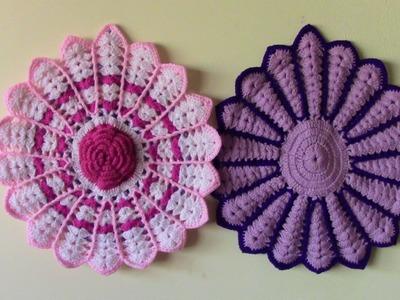 Tapetes o carpetas tejidas en crochet paso a paso para sillas o muebles