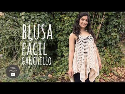 Tutorial Blusa Fácil y Rápida Ganchillo | Crochet