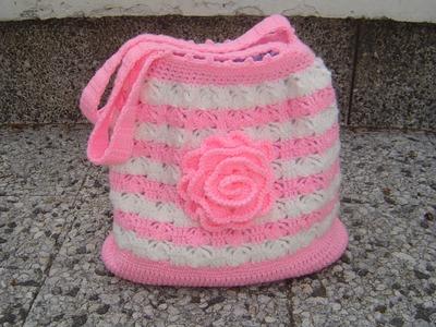 Tutorial bolso tejido a crochet paso a paso parte 1.2