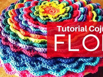 Tutorial Cojín Floreciente a Crochet