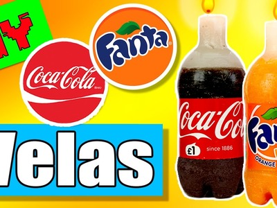 VELAS caseras de FANTA y COCA-COLA * Ideas Decoración DIY