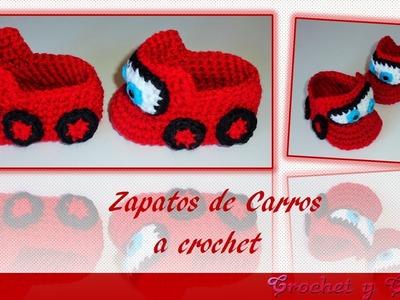 Zapatos - escarpines de carros para bebés tejidos a crochet – Parte 1